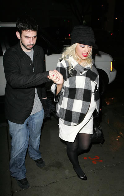 Christina Aguilera tuvo un niño