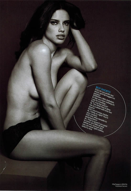 Adriana Lima semi desnuda 2