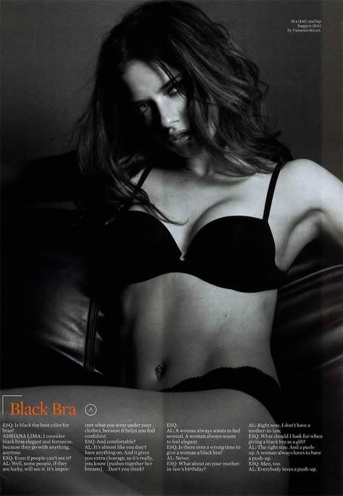 Adriana Lima semi desnuda 3