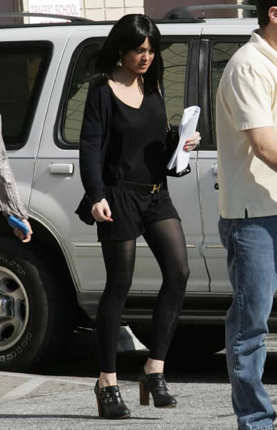 Lindsay Lohan con peluca 3
