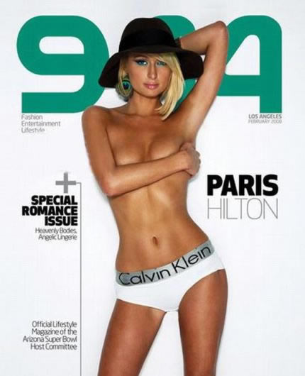Paris Hilton topless en portada