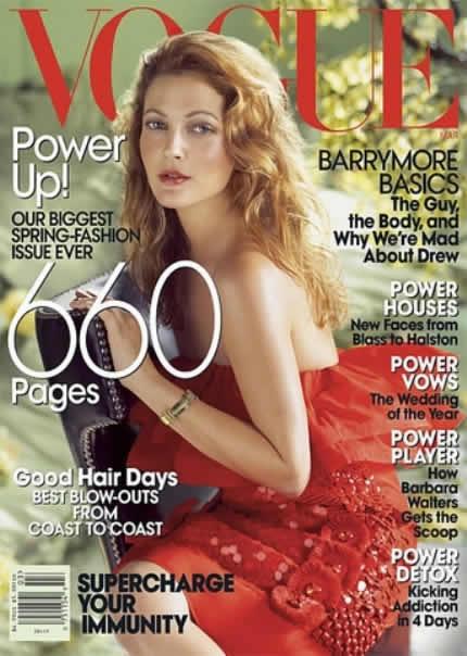 Drew Barrymore en portada