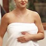 Britney paseando en toalla