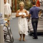 Britney en toalla
