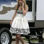 Miley Cyrus set de Hanna Montana 2