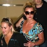 Britney causó revuelo en el aeropuerto