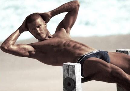 David Beckham semi desnudo 3