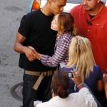 Miley Cyrus filmando 2