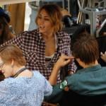 Miley Cyrus filmando 6