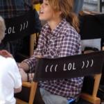 Miley Cyrus filmando 7