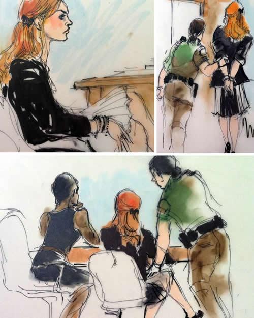 Impresion de Lindsay en corte