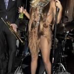 Lada Gaga vestido de cabello