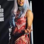 MTV 2010 Lady Gaga vestido de carne