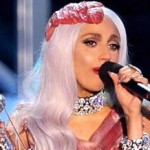 MTV 2010 Lady Gaga vestido de carne port