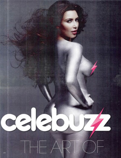 Kim Kardashian desnuda en revista W 2