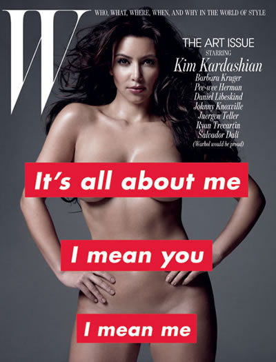 Kim Kardashian desnuda en revista W
